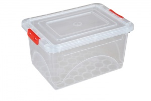 0.8 Litre Plastic Storage Boxes with Clip on Lids