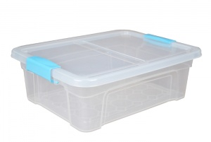 12 Litre Plastic Storage Boxes with Clip Handle Lids