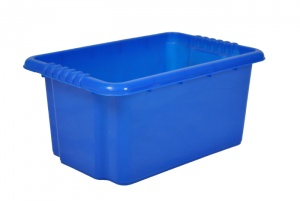 14 Litre Blue Stack and Nest Plastic Storage Boxes