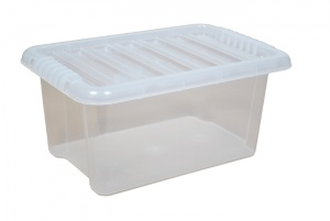 14 Litre Plastic Storage Boxes with Clear Lids