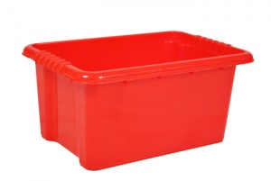 14 Litre Red Stack and Nest Plastic Storage Boxes