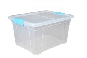 18 Litre Plastic Storage Boxes with Clip Handle Lids