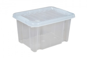 24 Litre Plastic Storage Boxes with Clear Lids