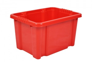 24 Litre Red Stack and Nest Plastic Storage Boxes