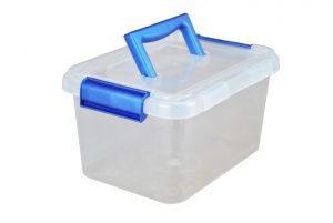 3.5 Litre Plastic Storage Boxes with Clip on Lids and Carry Handle