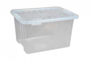 30 Litre Plastic Storage Boxes with Clear Lids