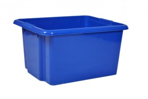 35 Litre Blue Stack and Nest Plastic Storage Boxes