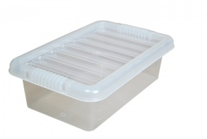 6 Litre Plastic Storage Boxes with Clear Lids