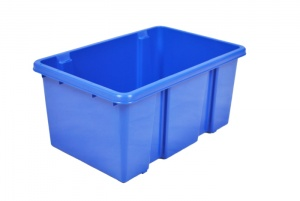 7 Litre Blue Stack and Nest Plastic Storage Boxes