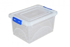 2 Litre Plastic Storage Boxes with Clip on Lids