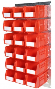 457mm x 915mm Louvre Panel Parts Bin Kit 12