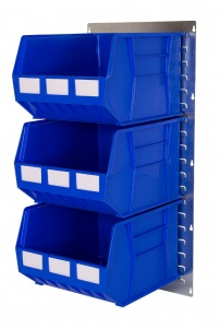457mm x 915mm Louvre Panel Parts Bin Kit 24