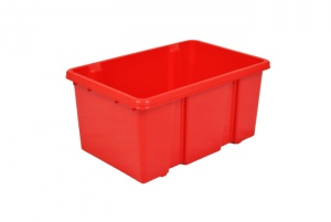 7 Litre Red Stack and Nest Plastic Storage Boxes