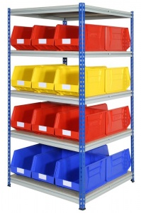 Shelving Bay with 24 Rhino Tuff Bin50 Parts Storage Bins