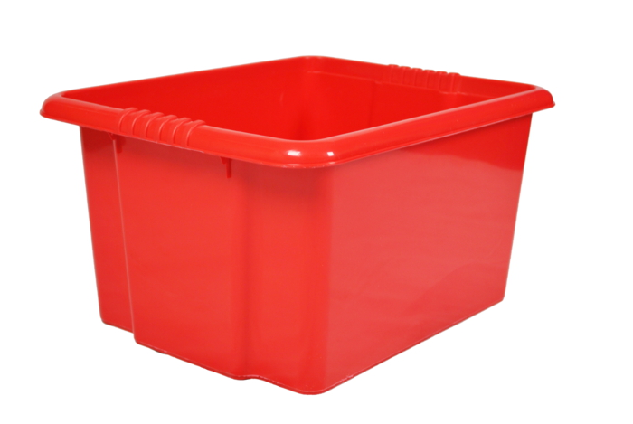 sc 1 st  Plastic Boxes u0026 Parts Bins & 35 Litre Red Stack and Nest Plastic Storage Boxes Aboutintivar.Com