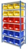 Shelving Bay with 18 Rhino Tuff Bin50 Parts Storage Bins