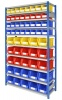Shelving Bay with 32 Rhino Tuff Bin30 and 25 x Bin40 Parts Bins