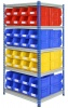 Shelving Bay with 64 Rhino Tuff Bin40 Parts Storage Bins