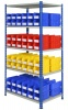 Shelving Bay with 96 Rhino Tuff Bin30 Parts Storage Bins